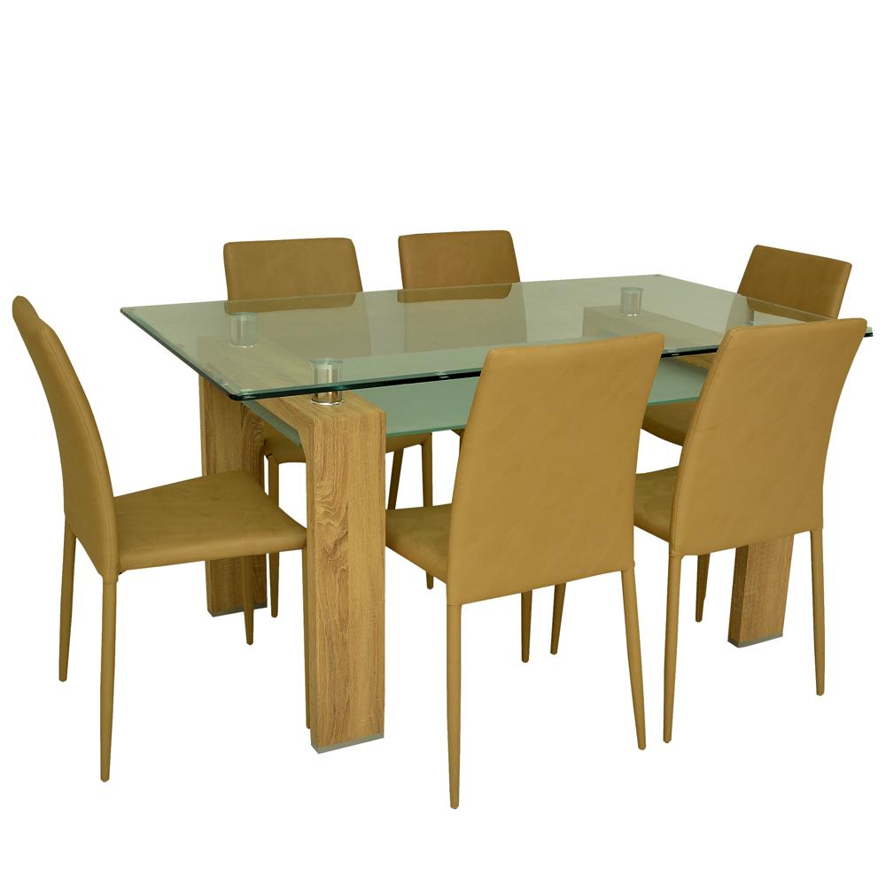Comedor Omega 6 sillas - Negro