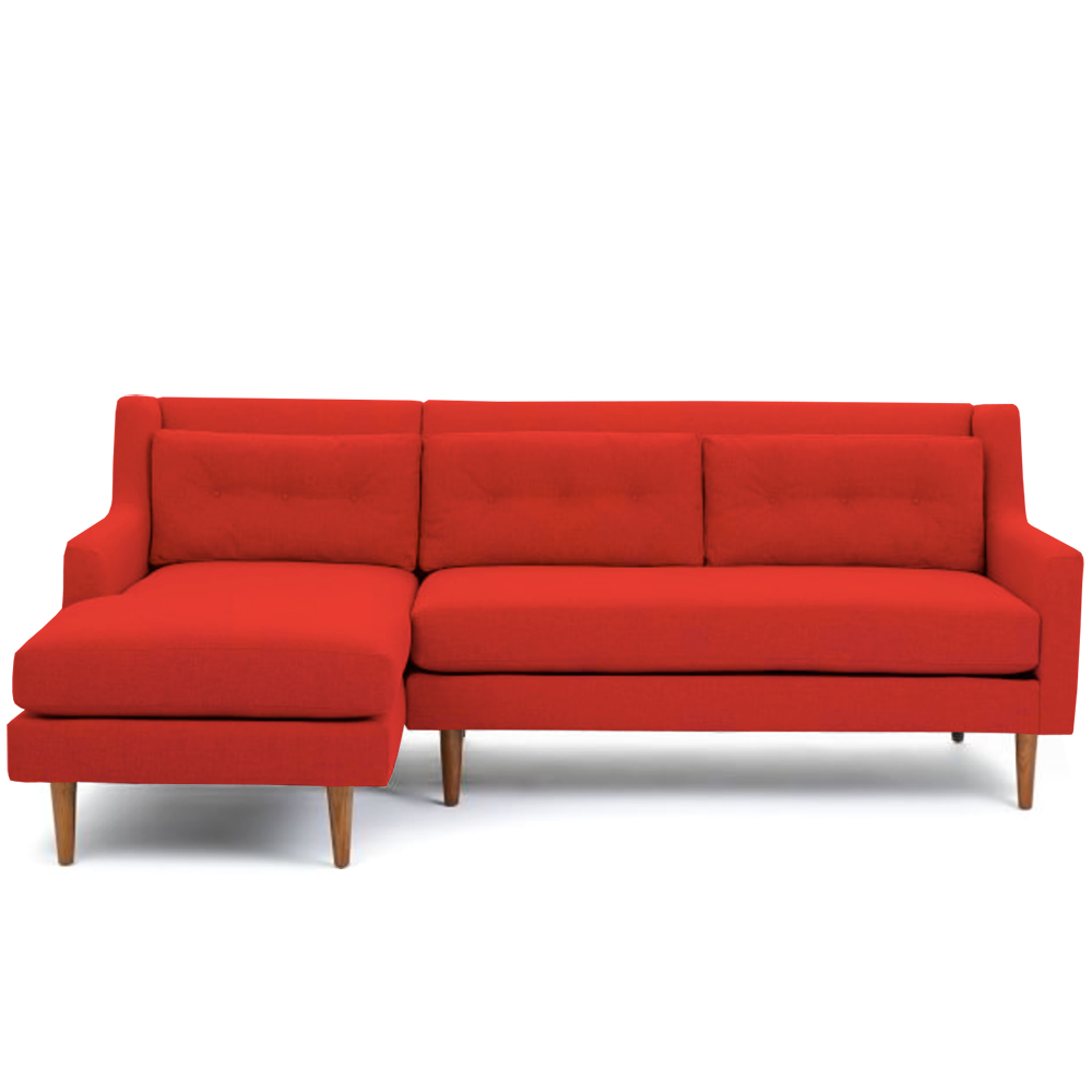 Sofá Oporto Seccional - Rojo