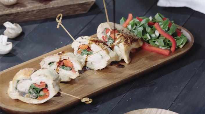 Rollitos de Pollo y Verduras, para tus picoteos o almuerzos
