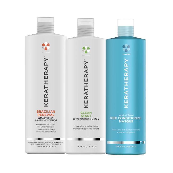 Kit KERATINA Brazilian Renewal 500ml + Shampoo 500ml + Mask 500ml