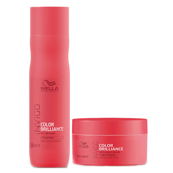 PACK WELLA BRILLIANCE SHAMPOO 250ML+MASCARA 150ML