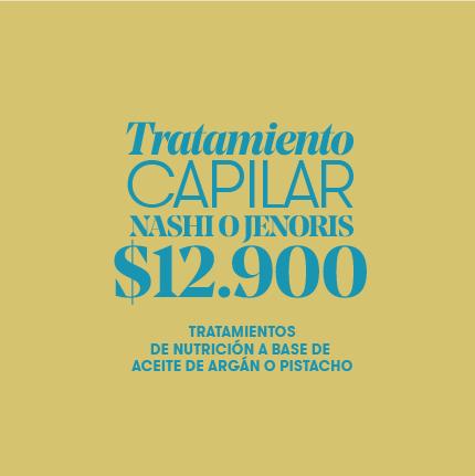 Tratamiento Capilar Nashi o Jenoris $12.900