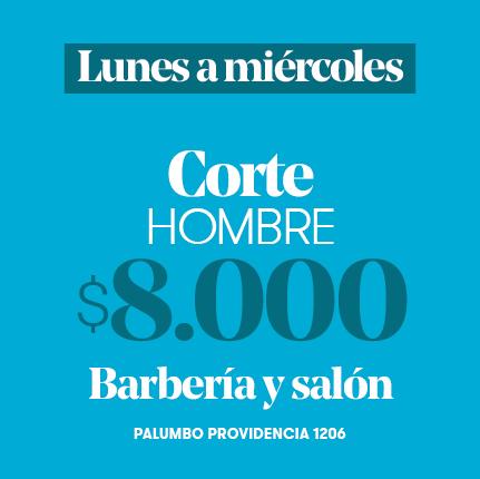 Corte hombre a $8.000- Barbería y Salón de Lunes a Miércoles