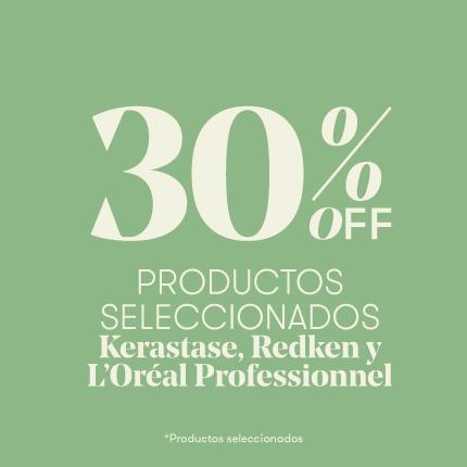 30% Off productos seleccionados Kérastase, L'Oréal Professionnel y Redken
