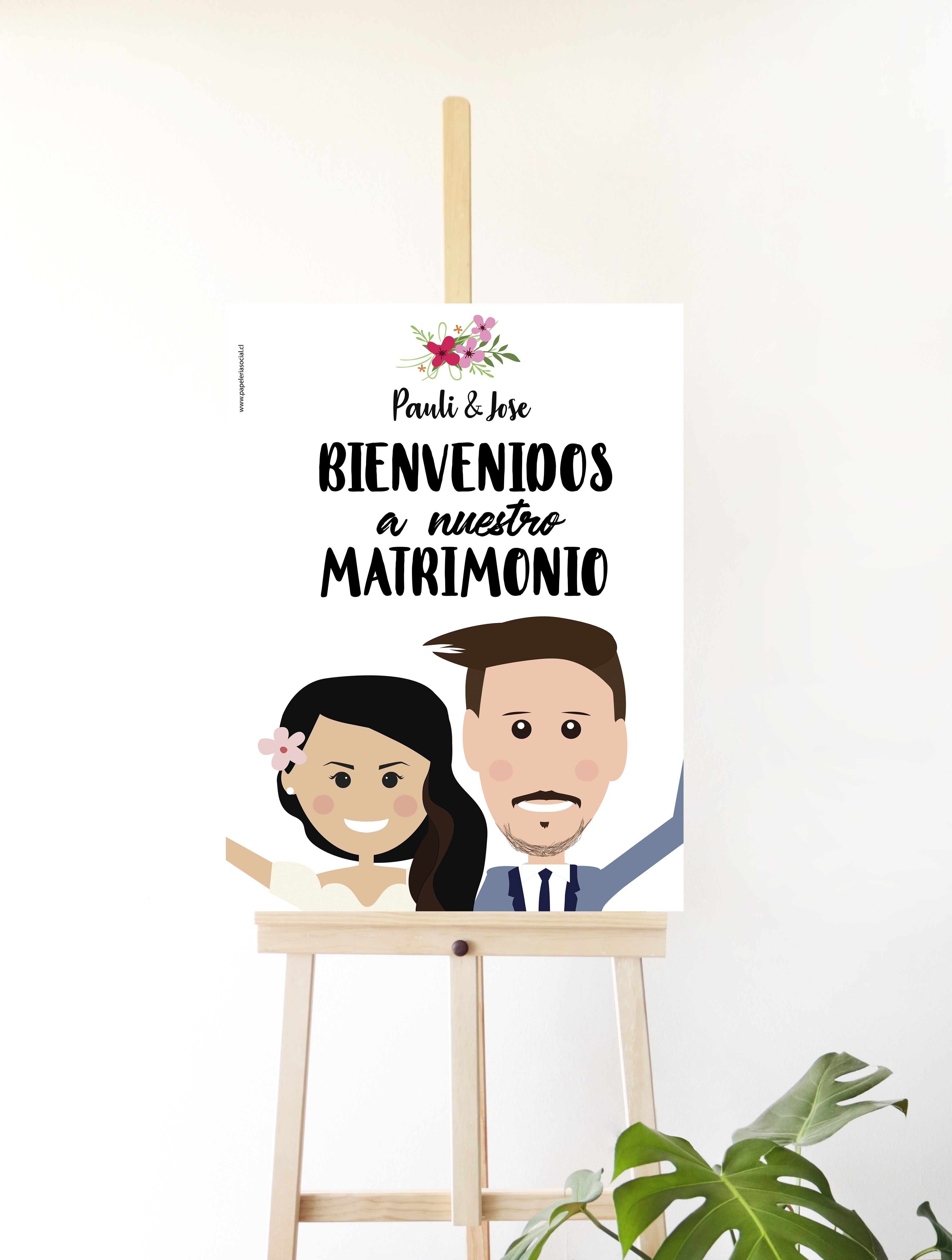 LETRERO BIENVENIDOS ILUSTRADO MONITOS
