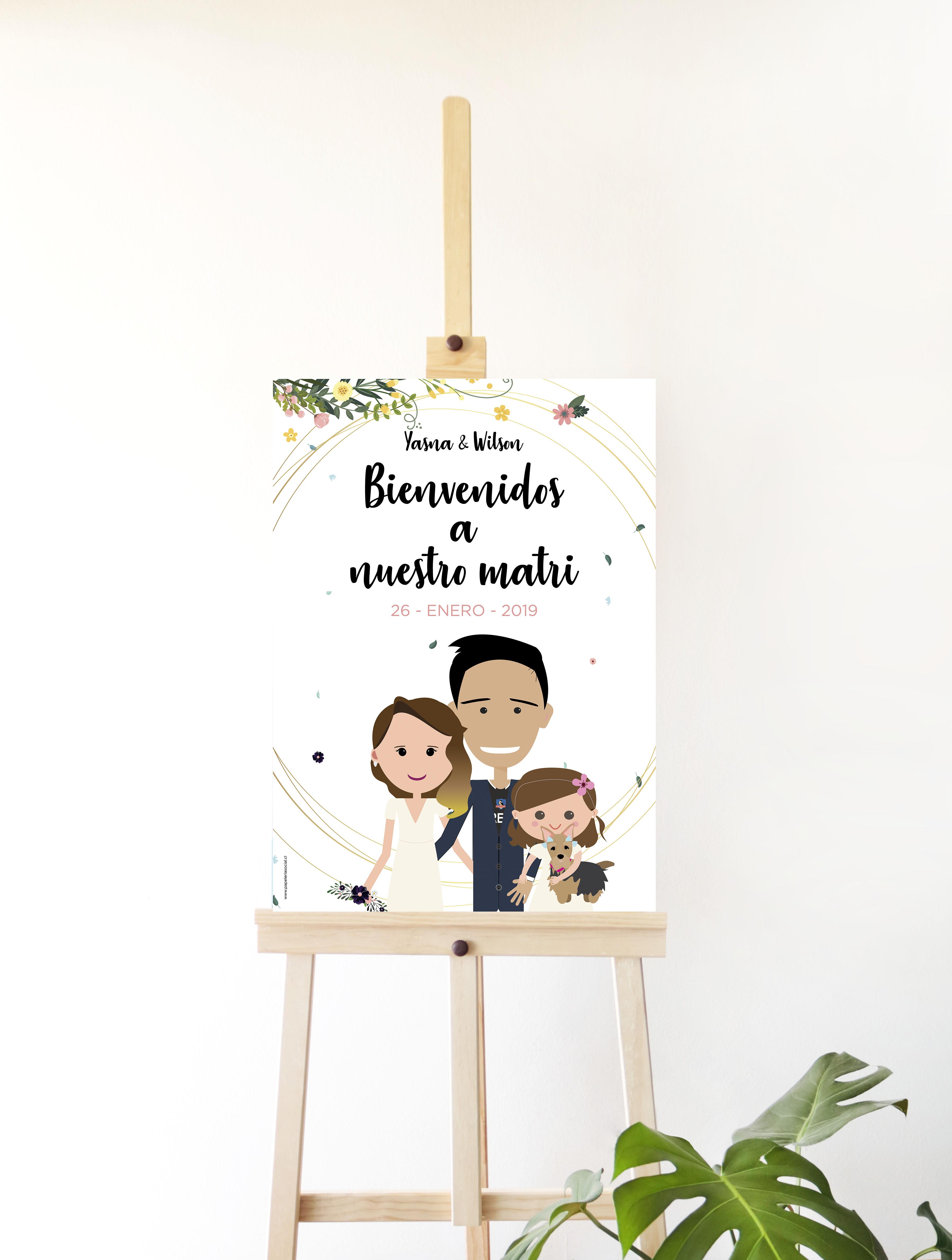 BIENVENIDOS ILUSTRADO MONITOS