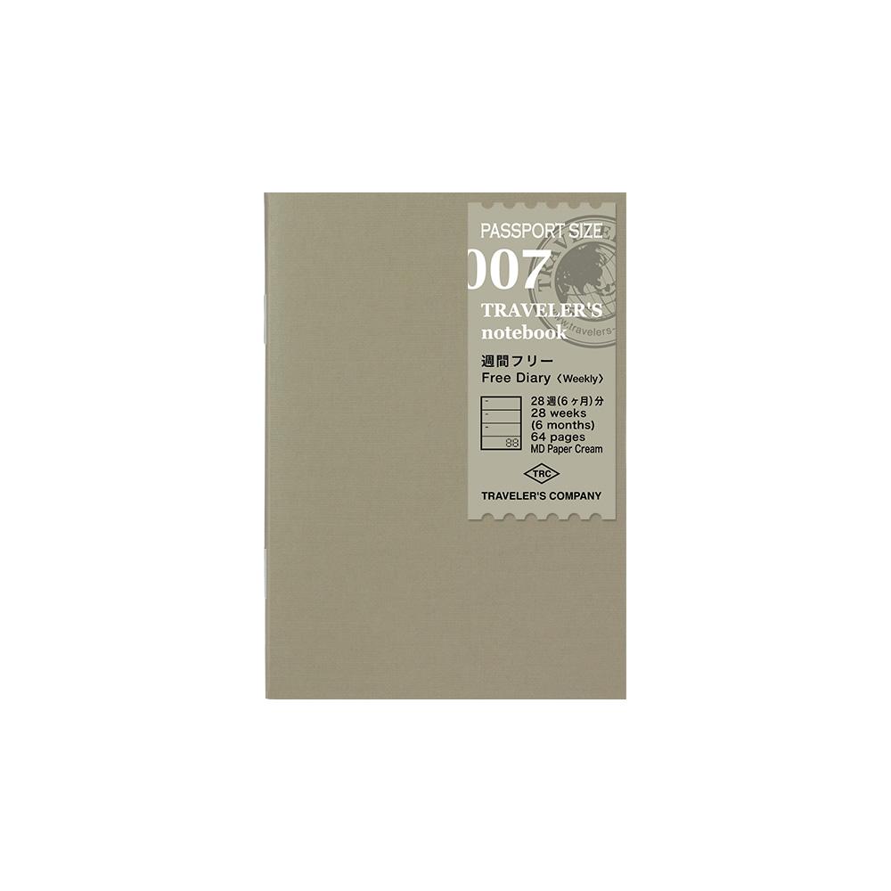 TRAVELER'S Notebook Refill Free Diary Weekly 007 Passport