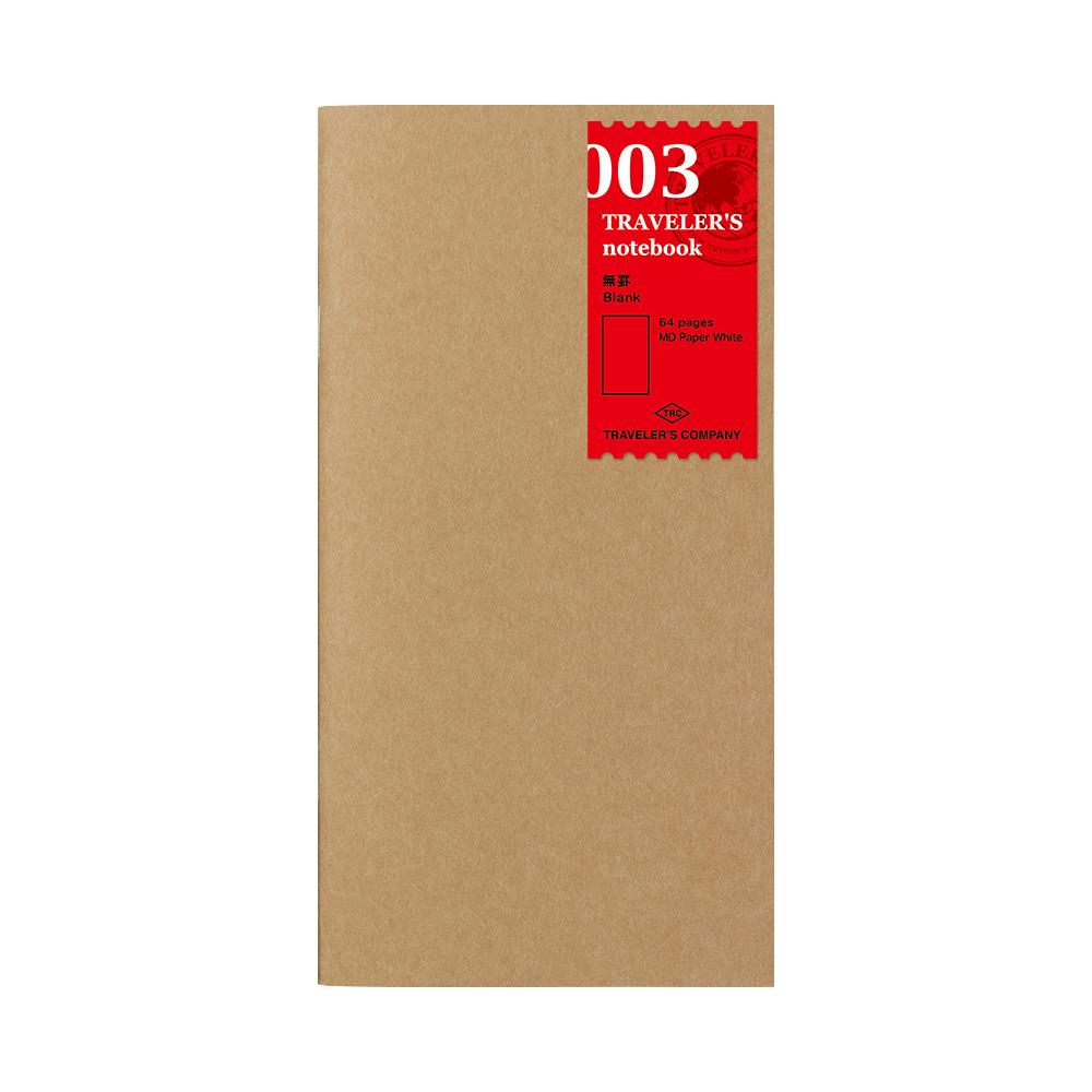 TRAVELER'S Notebook Refill Blanco 003
