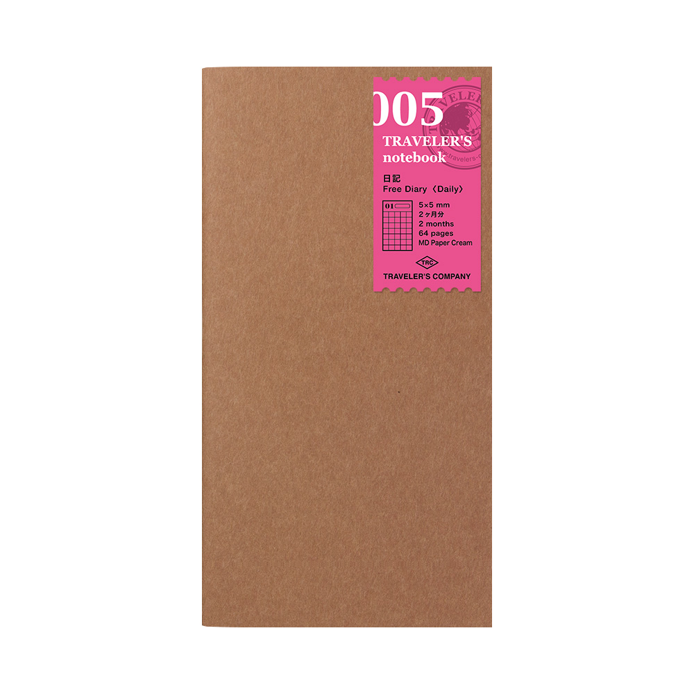 TRAVELER´S Notebook Refill Free Diary Daily 005