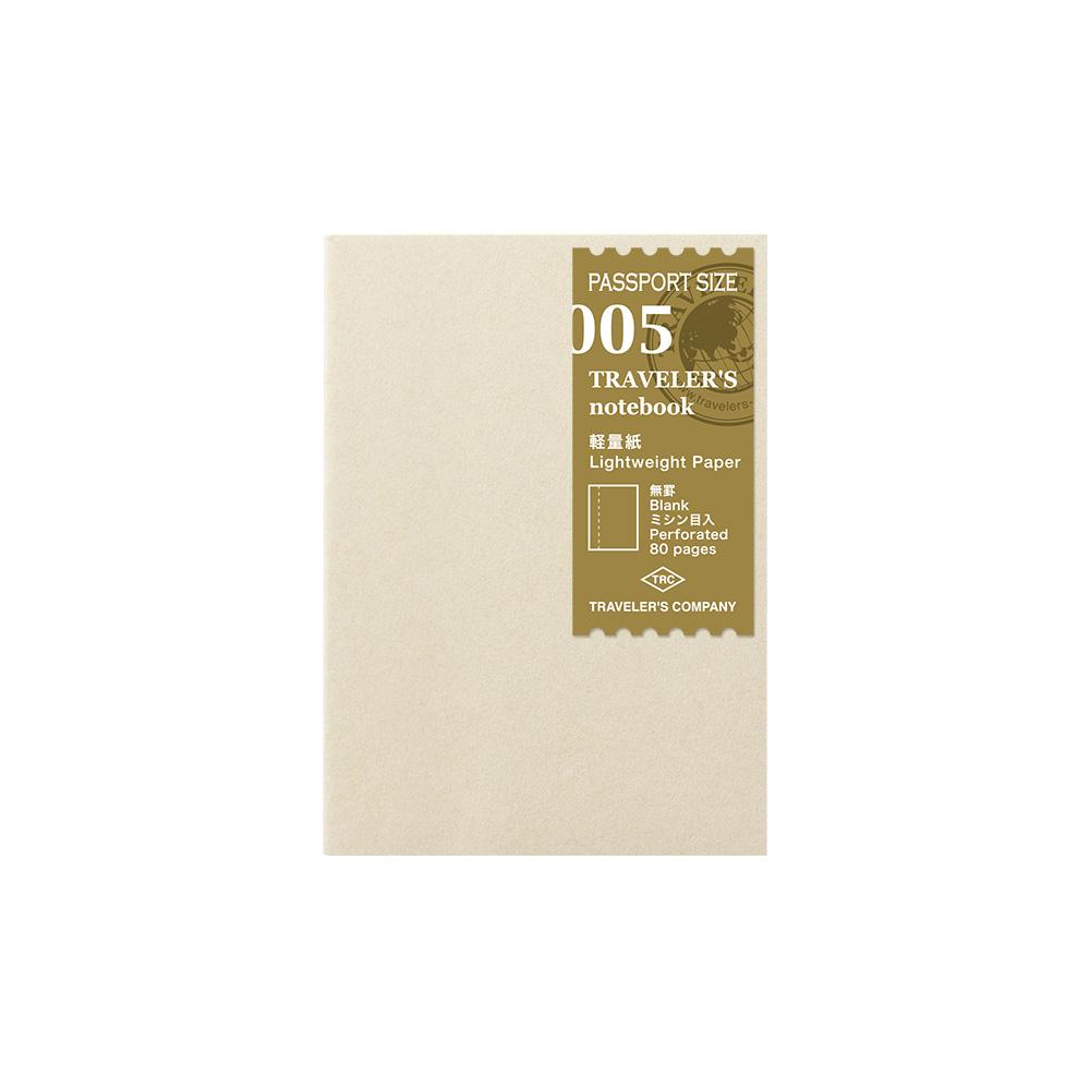 TRAVELER´S Notebook Refill Light Paper 005 Passport