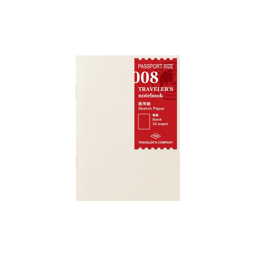 TRAVELER´S Notebook Drawing Paper 008 Passport