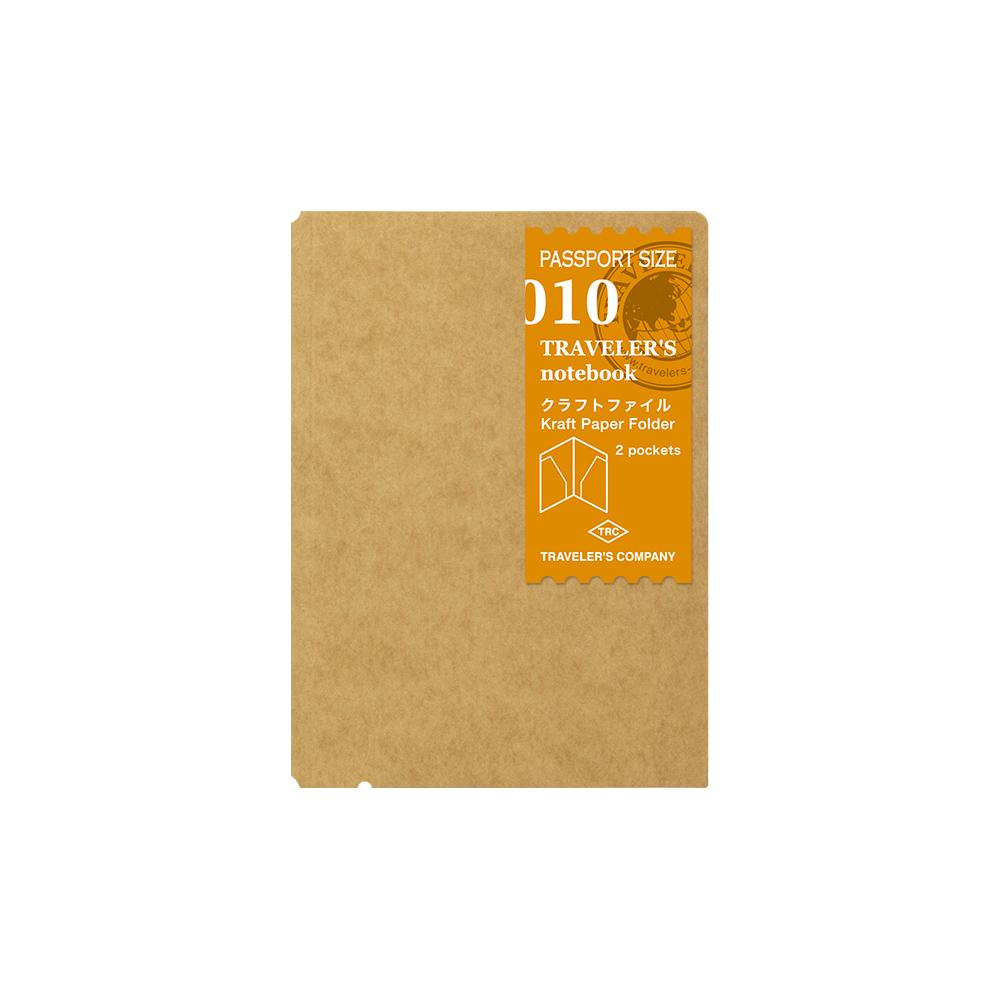 TRAVELER´S Notebook Refill Kraft Paper Folder 010 Passport