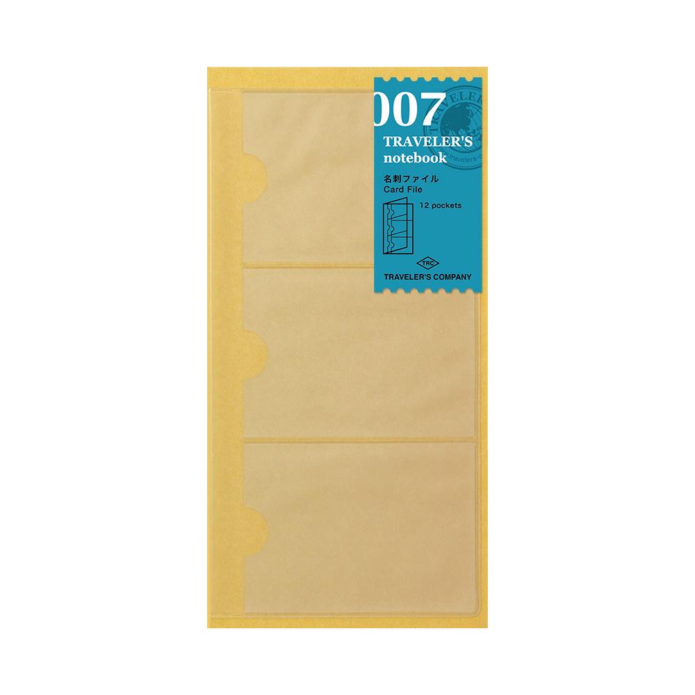 Refill Card file 007 TRAVELER'S Notebook