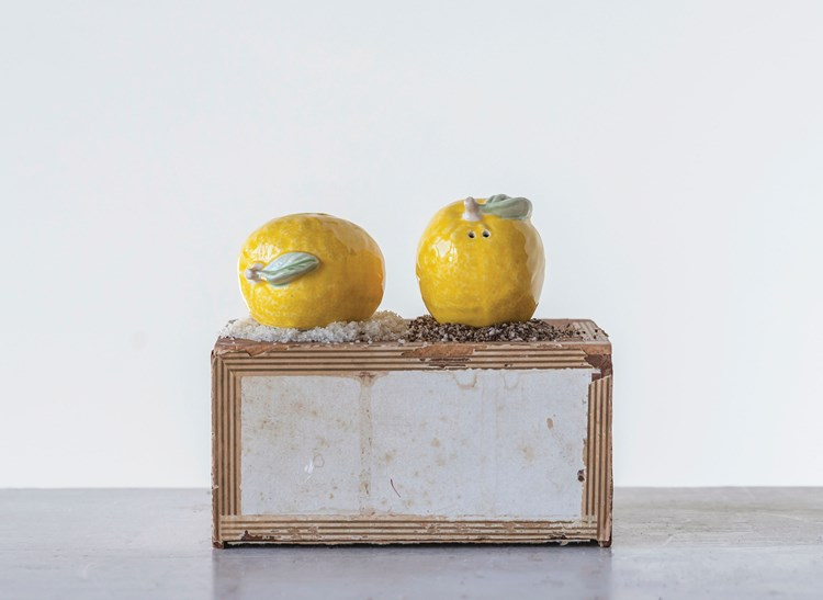 Salero y pimentero limón