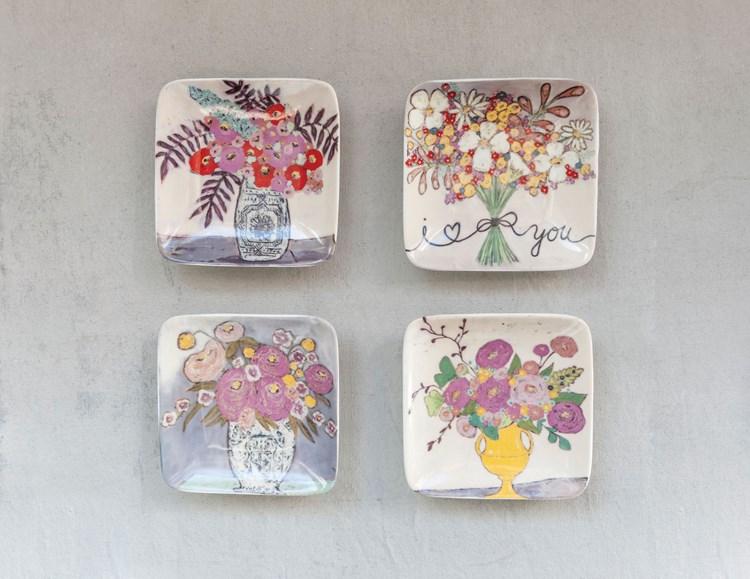 Set platos flores