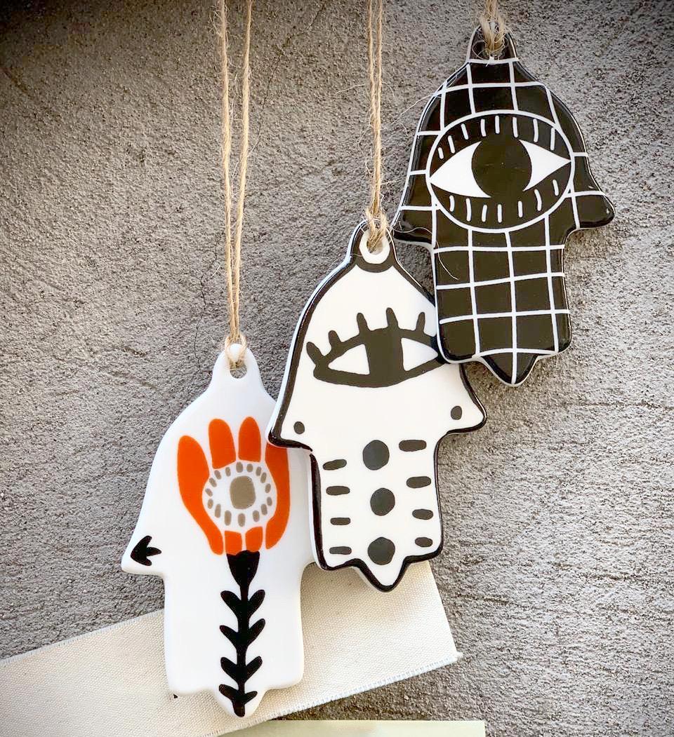 Set manos cerámica