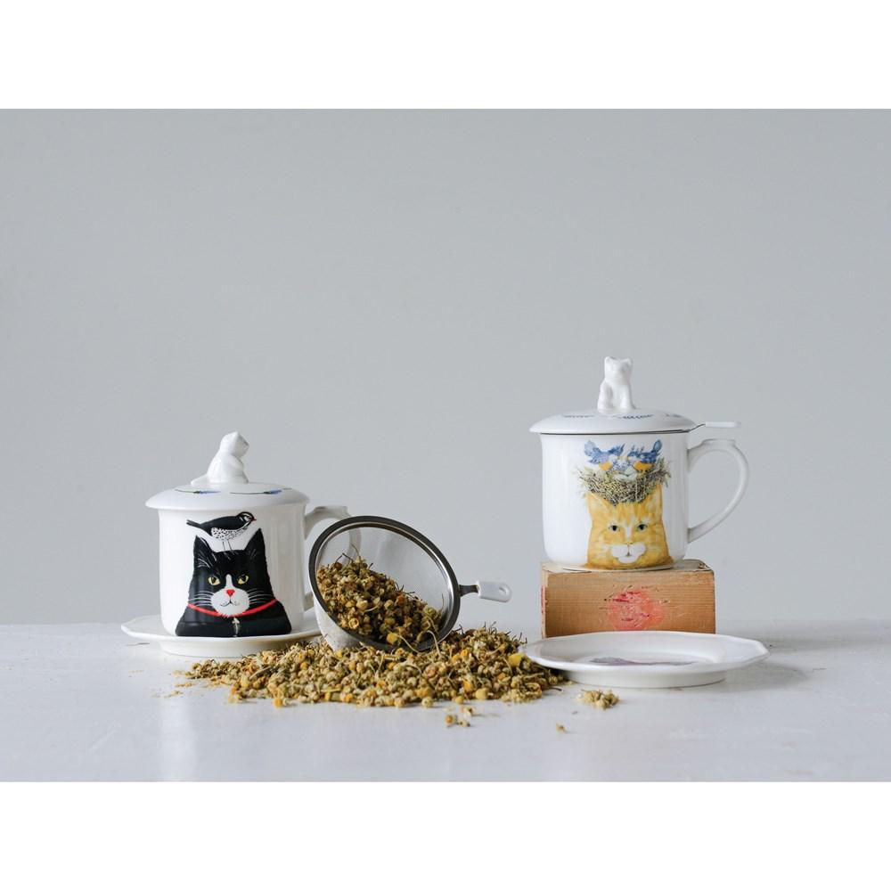 Taza gato cerámica