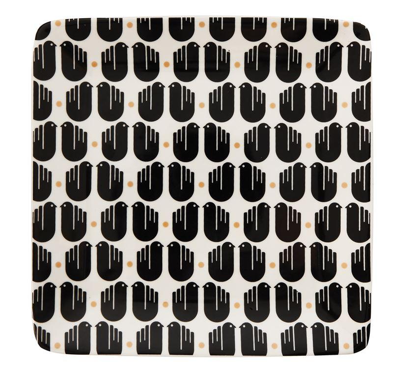 Plato pajaritos cerámica