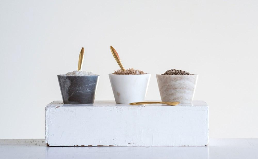 Set bowls mármol y cuchara