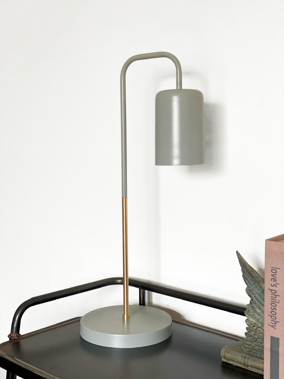 Lámpara gris dorada