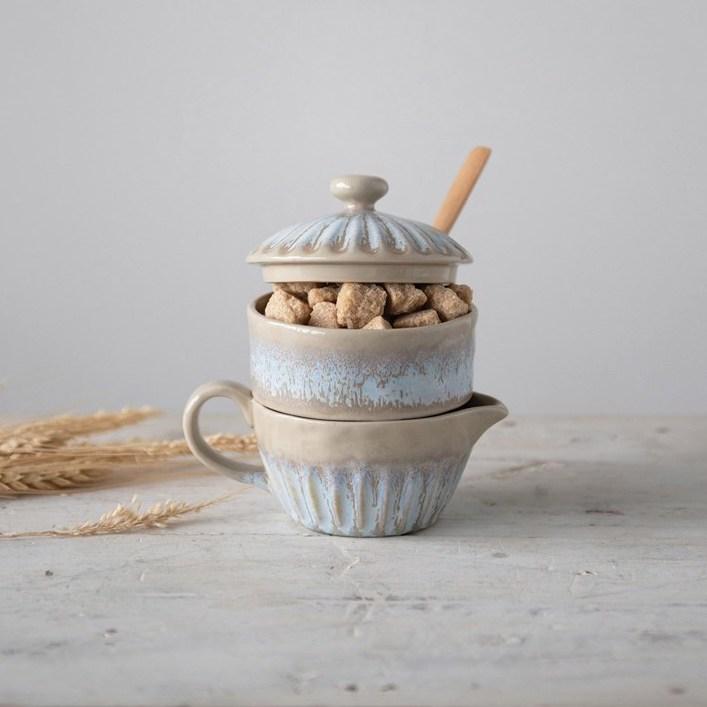 Cremero azucarero cerámica