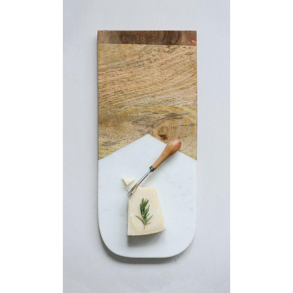 Tabla mármol cuchillo