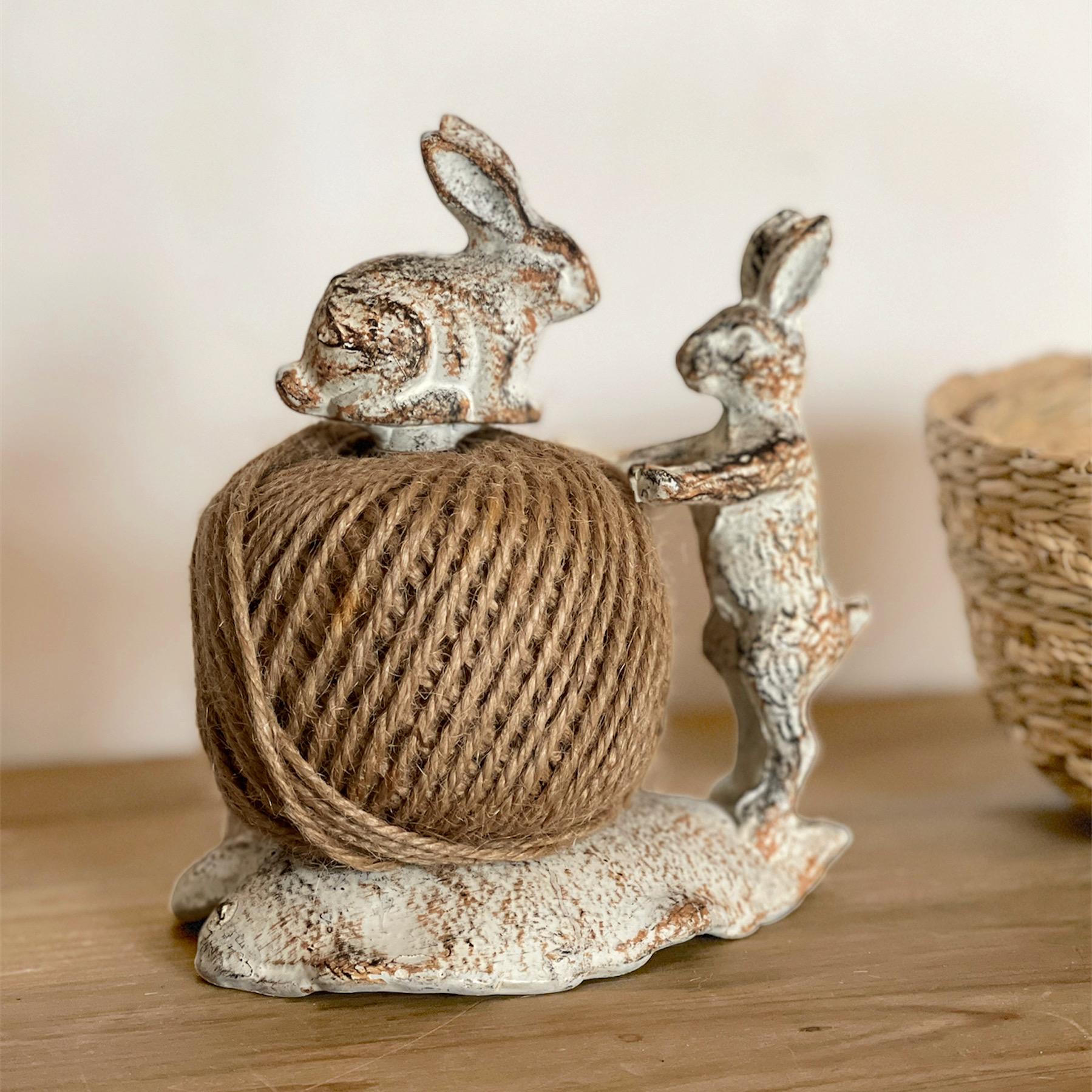Ovillo yute conejos