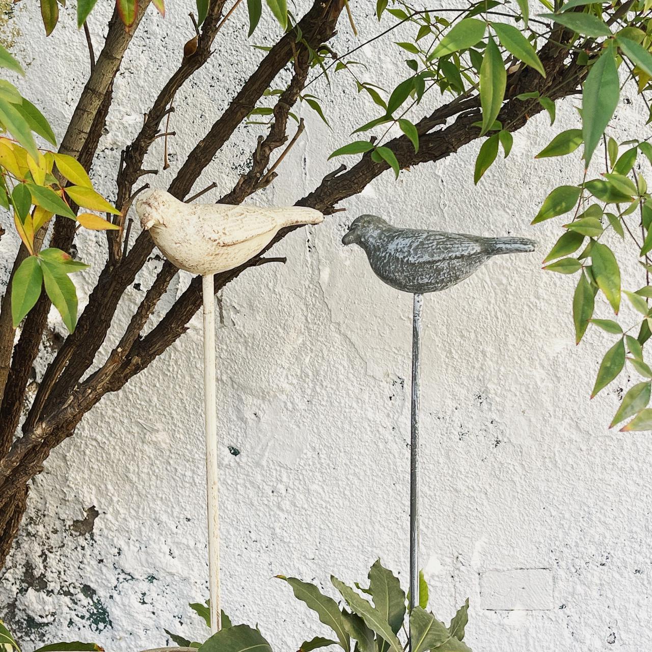 Estaca pájaro hierro