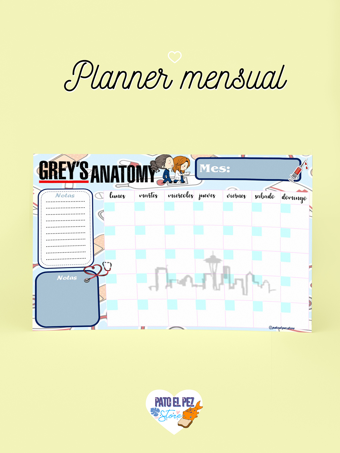 PLANNER GREY ANATOMY