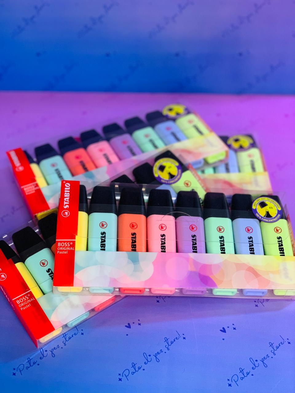 STABILO BOSS LIME 8 COLORES