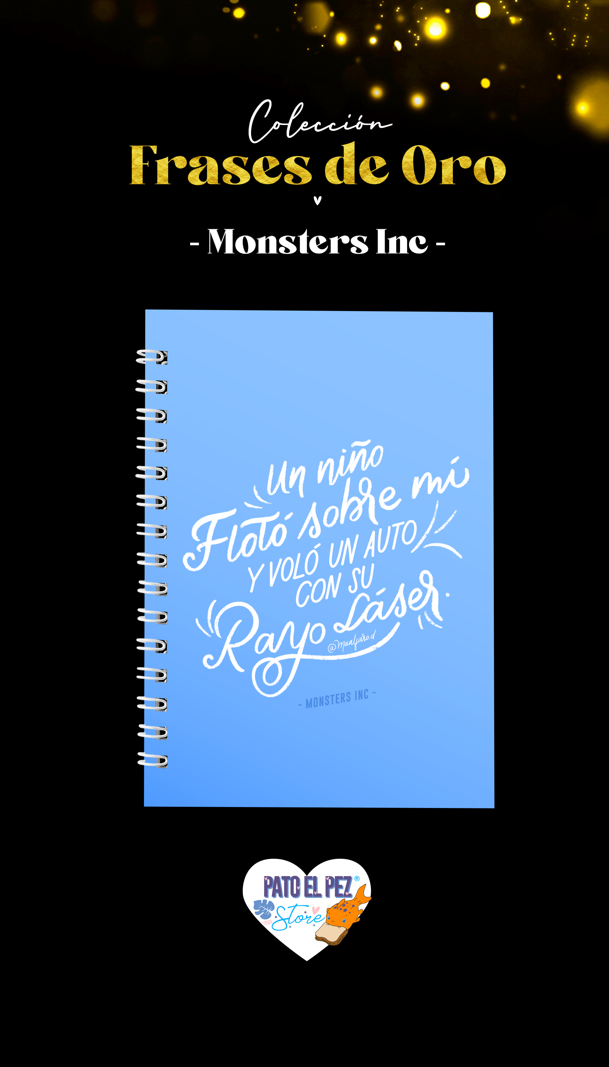 CUADERNO TAPA DURA MONSTER INC