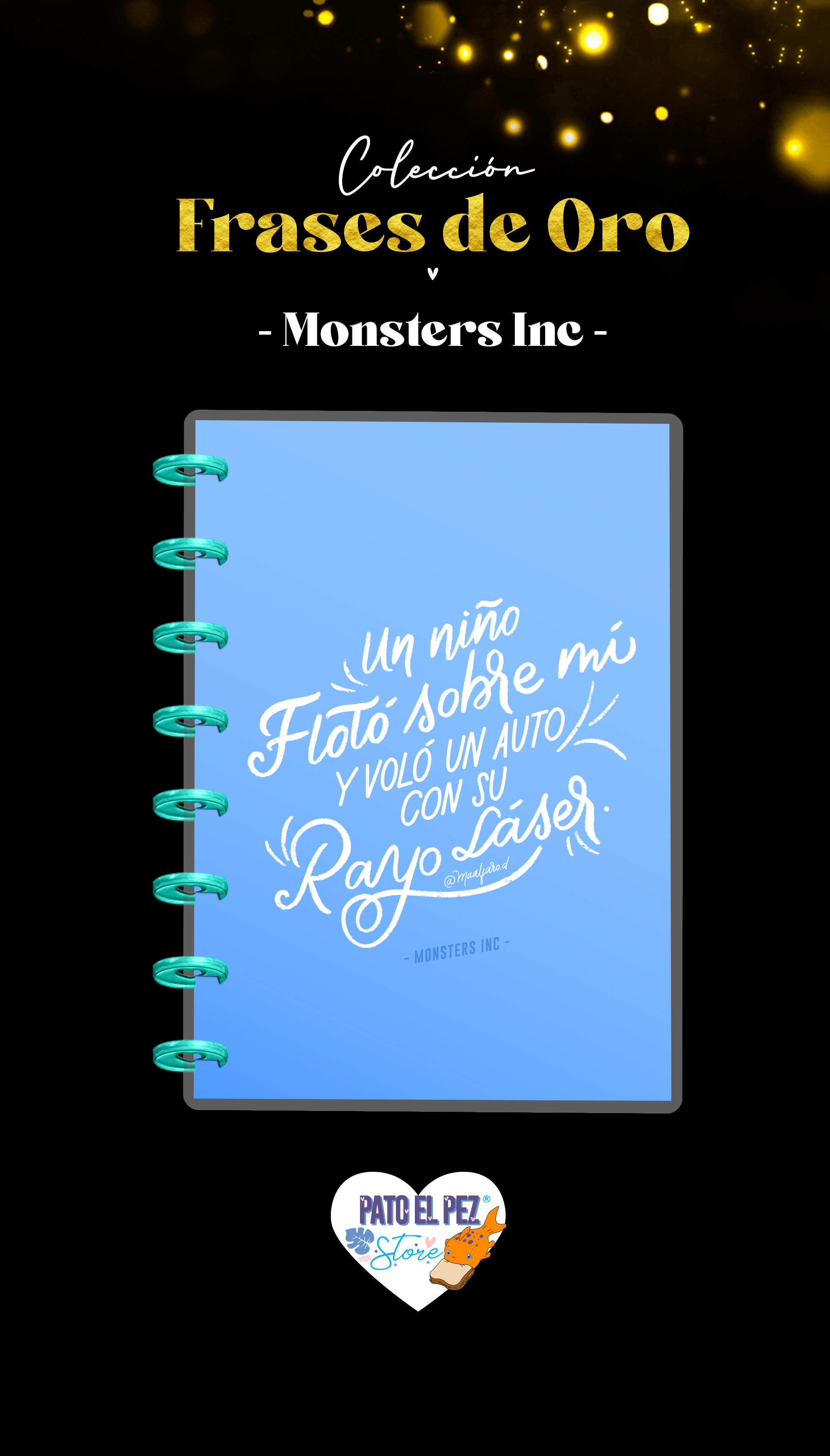 CUADERNO DE DISCO MONSTER INC