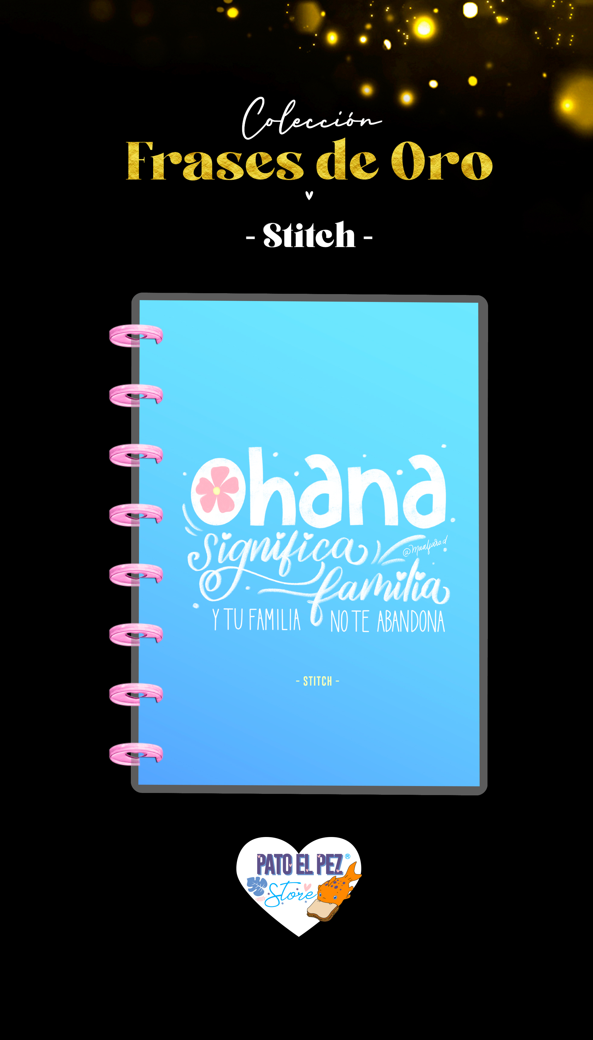 CUADERNO DE DISCO STITCH