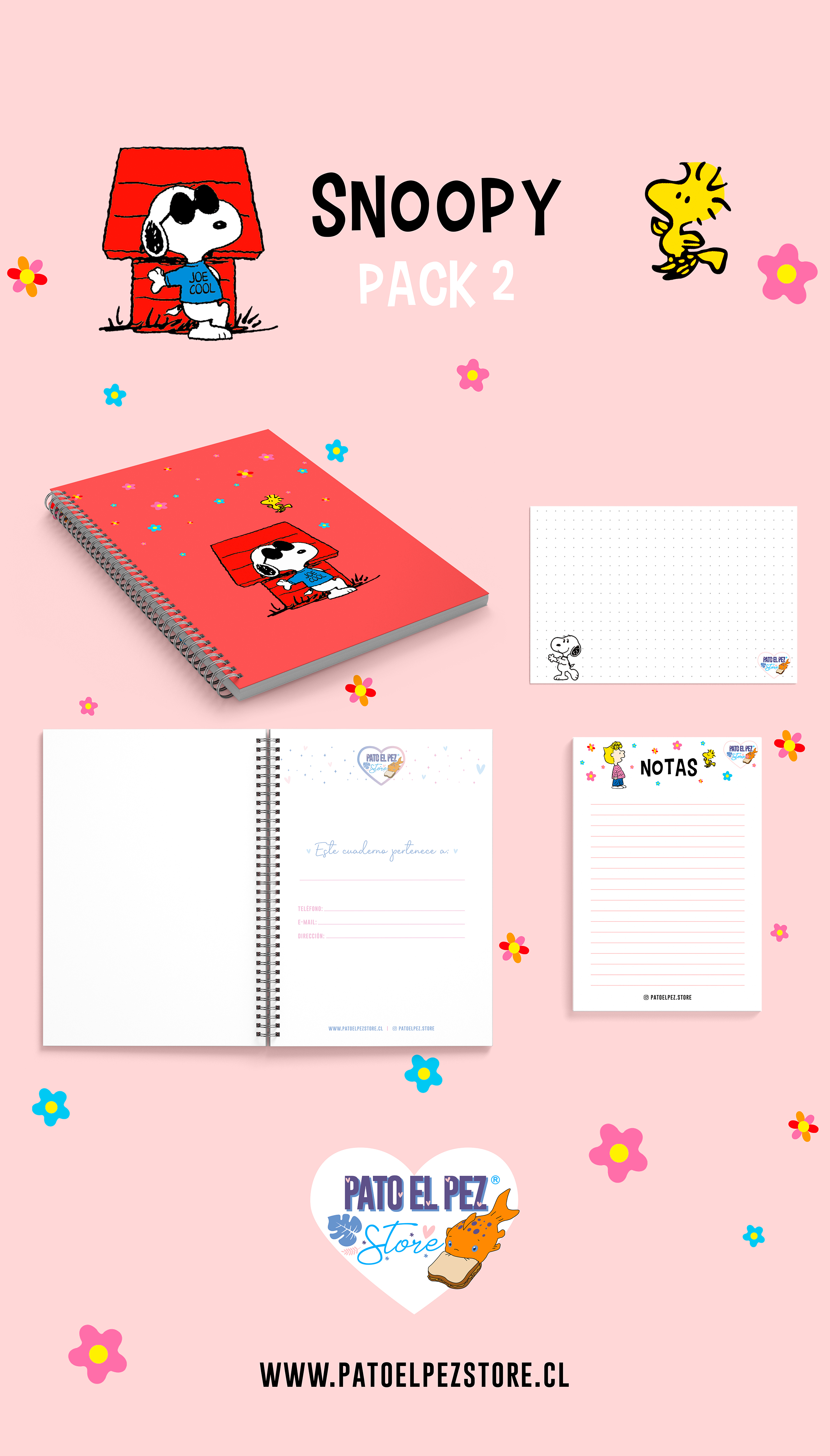 PACK 2 SNOOPY
