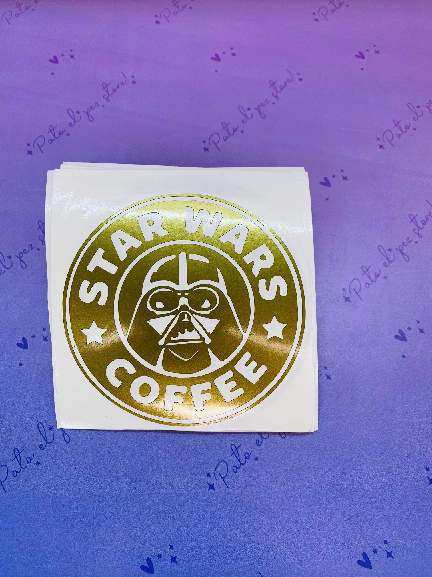 VINILO STAR WARS COFFE