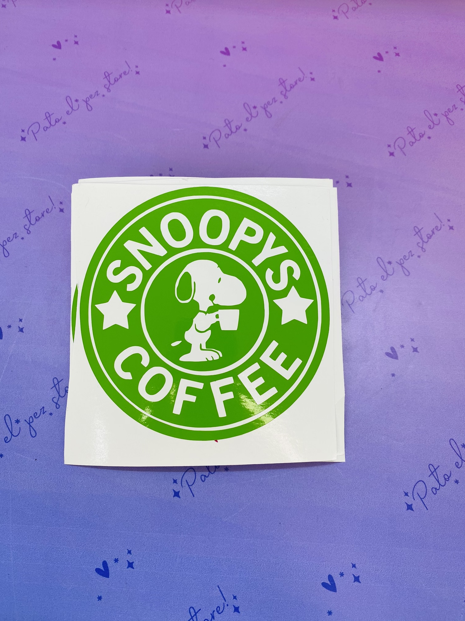 VINILO SNOOPY COFFE