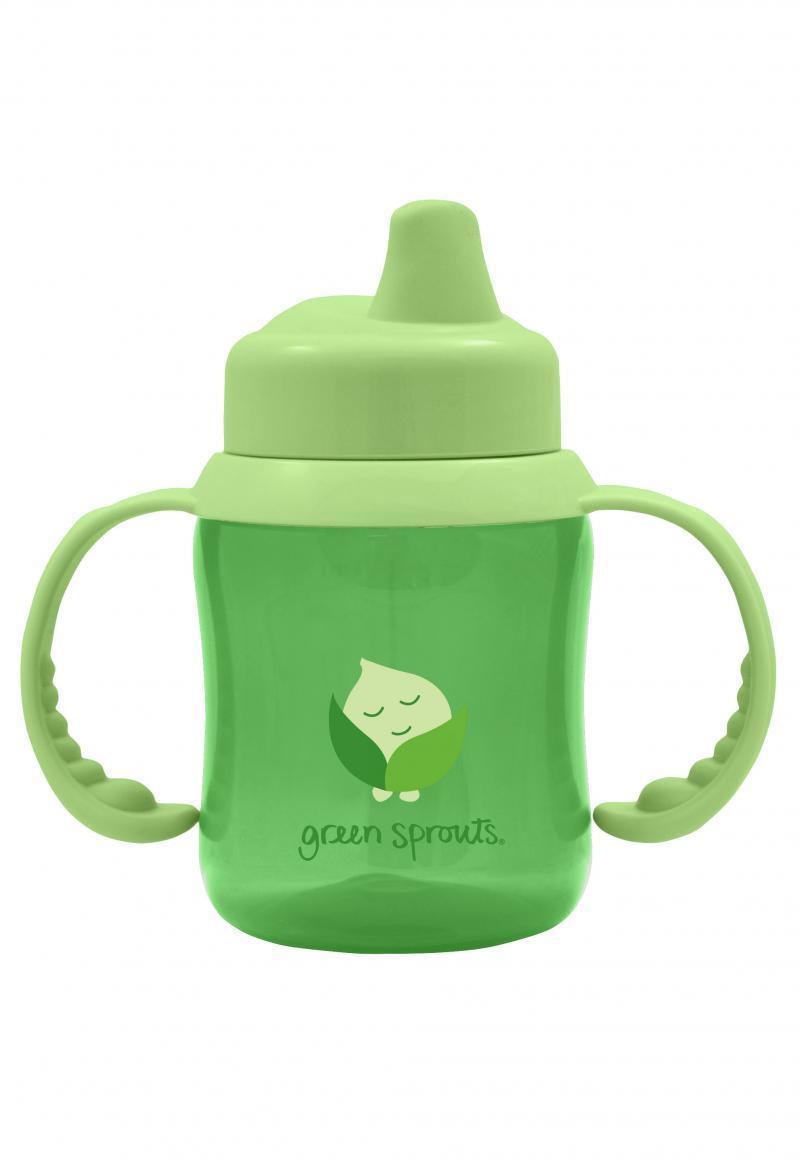 Vaso de Transición Antiderrame con Asas Verde Green Sprouts