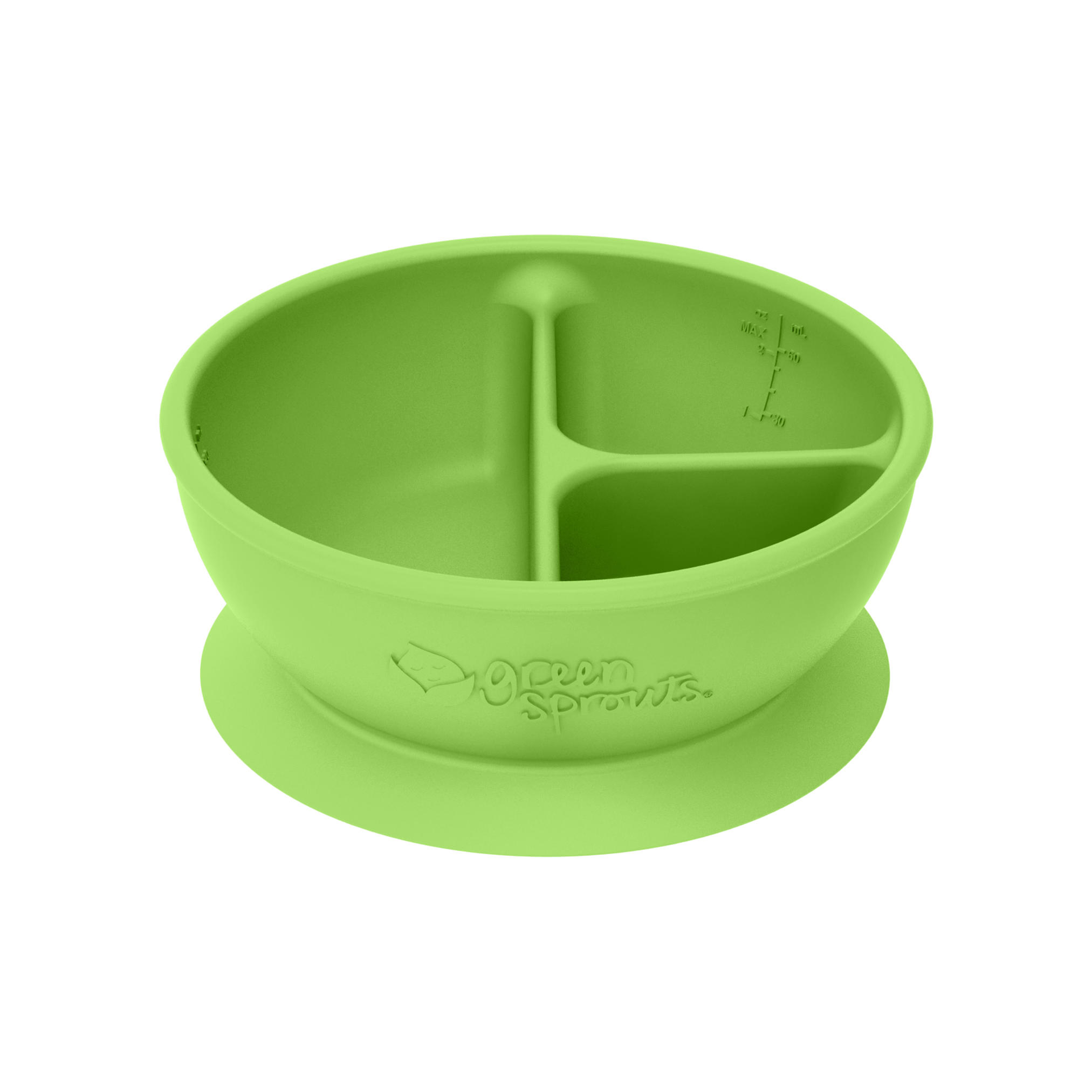 Bowl Adherente 100% Silicona Verde Green Sprouts