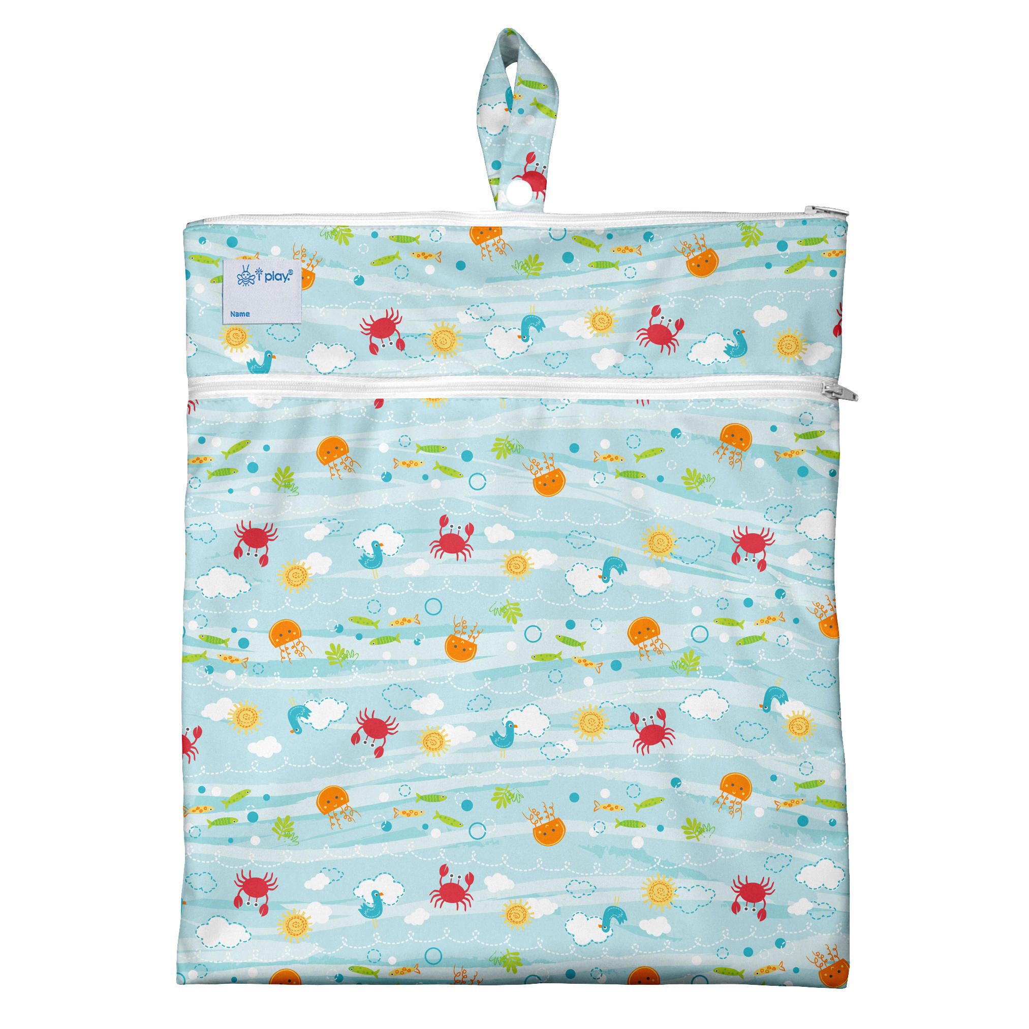 Bolso Impermeable Celeste Sea Friends Green Sprouts