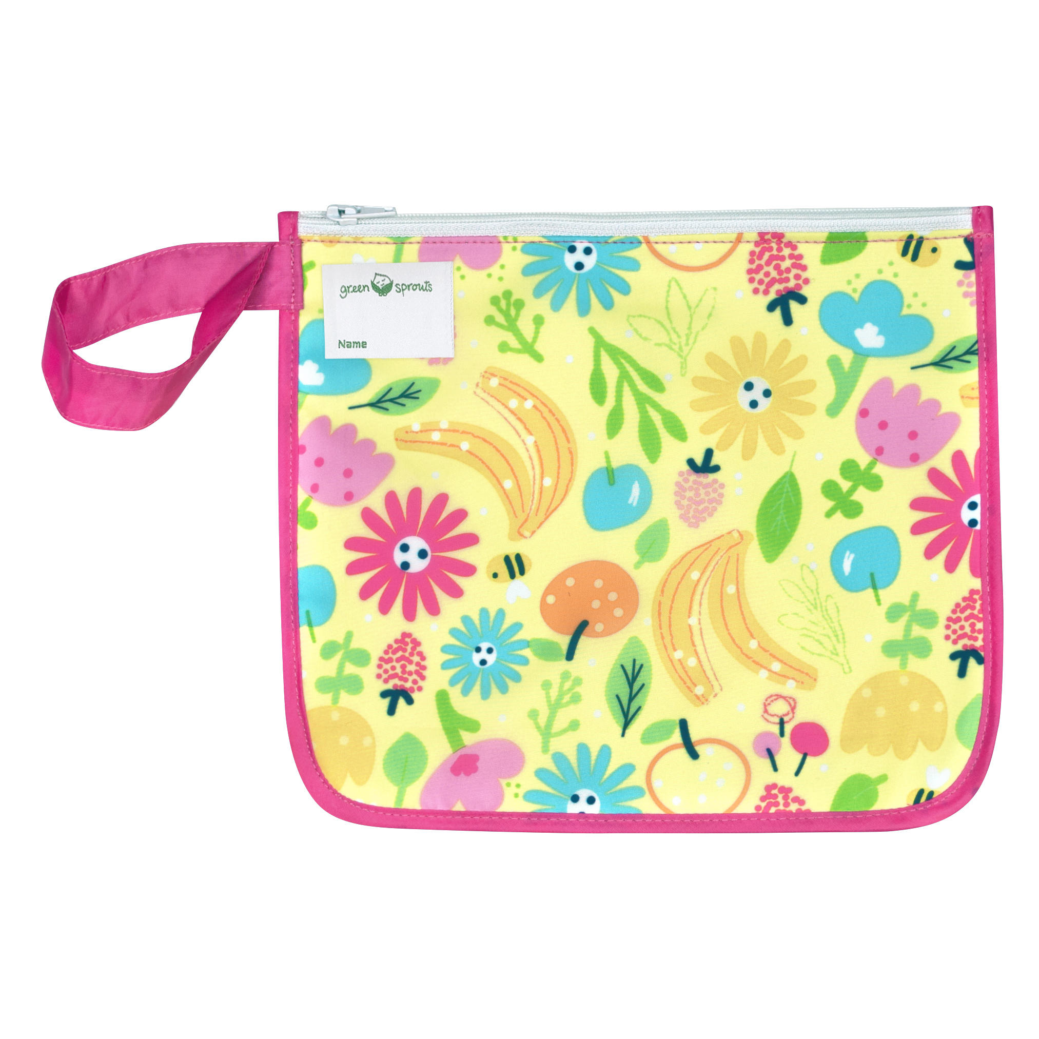 Bolsita Reusable Snack Bag Rosado Abeja Floral