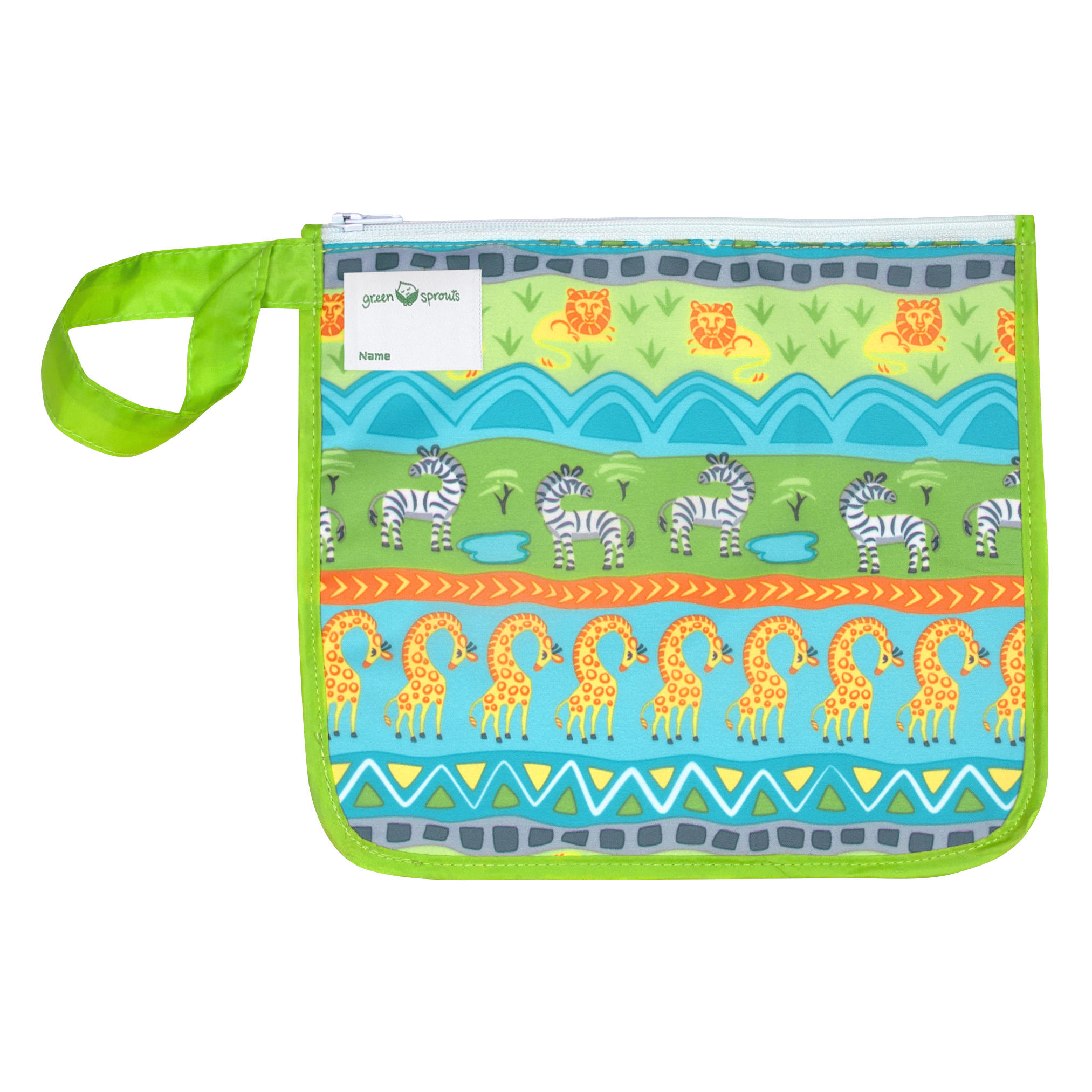 Bolsita Reusable Snack Bag Verde Safari