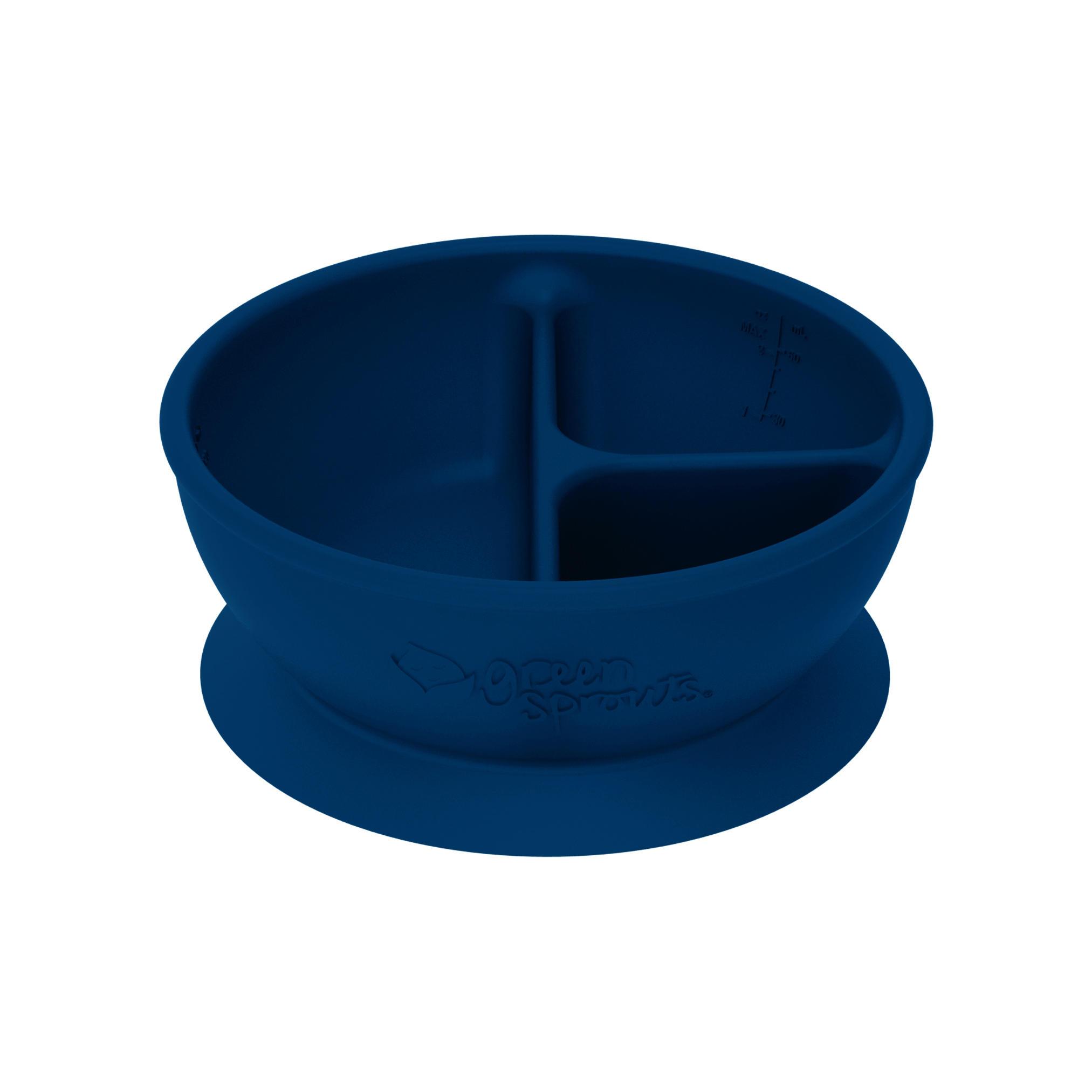 Bowl Divisorio y Adherente de Silicona Azul Navy