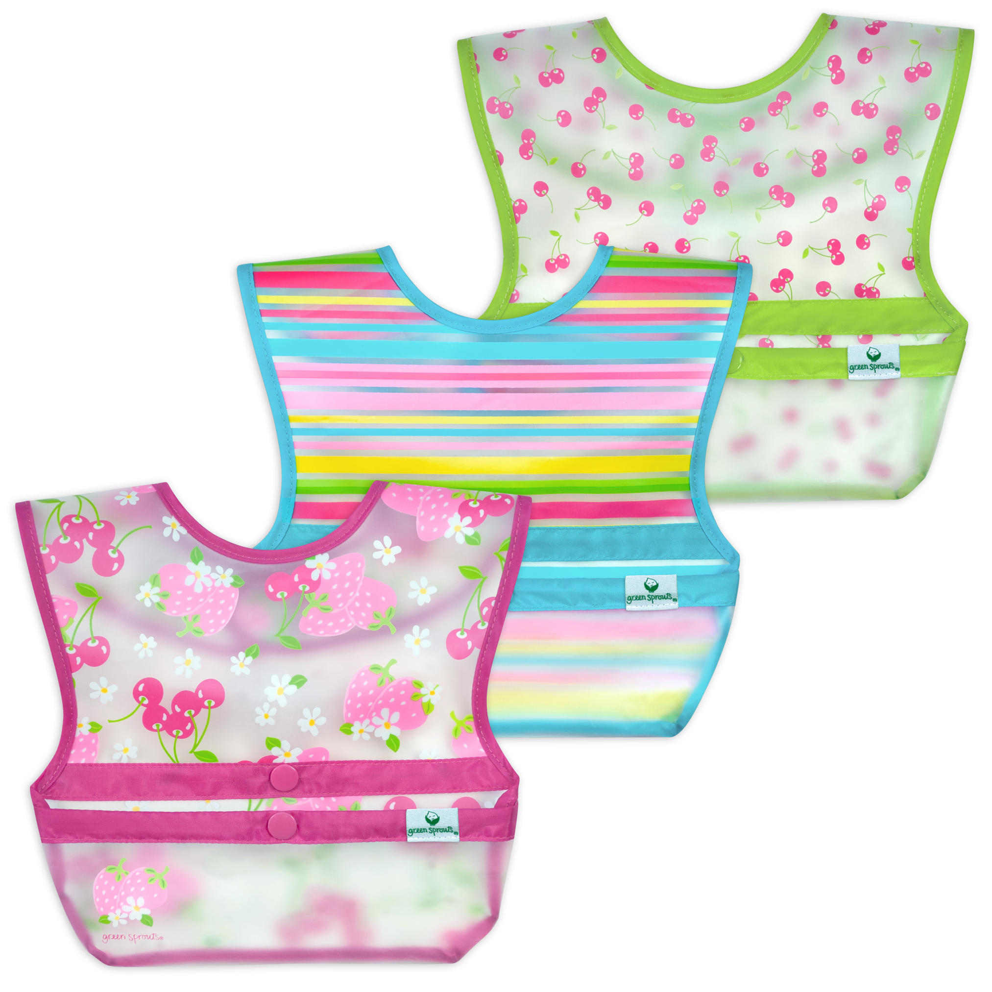 Baberos Snap & Go W/O Fucsia Berries set de 3