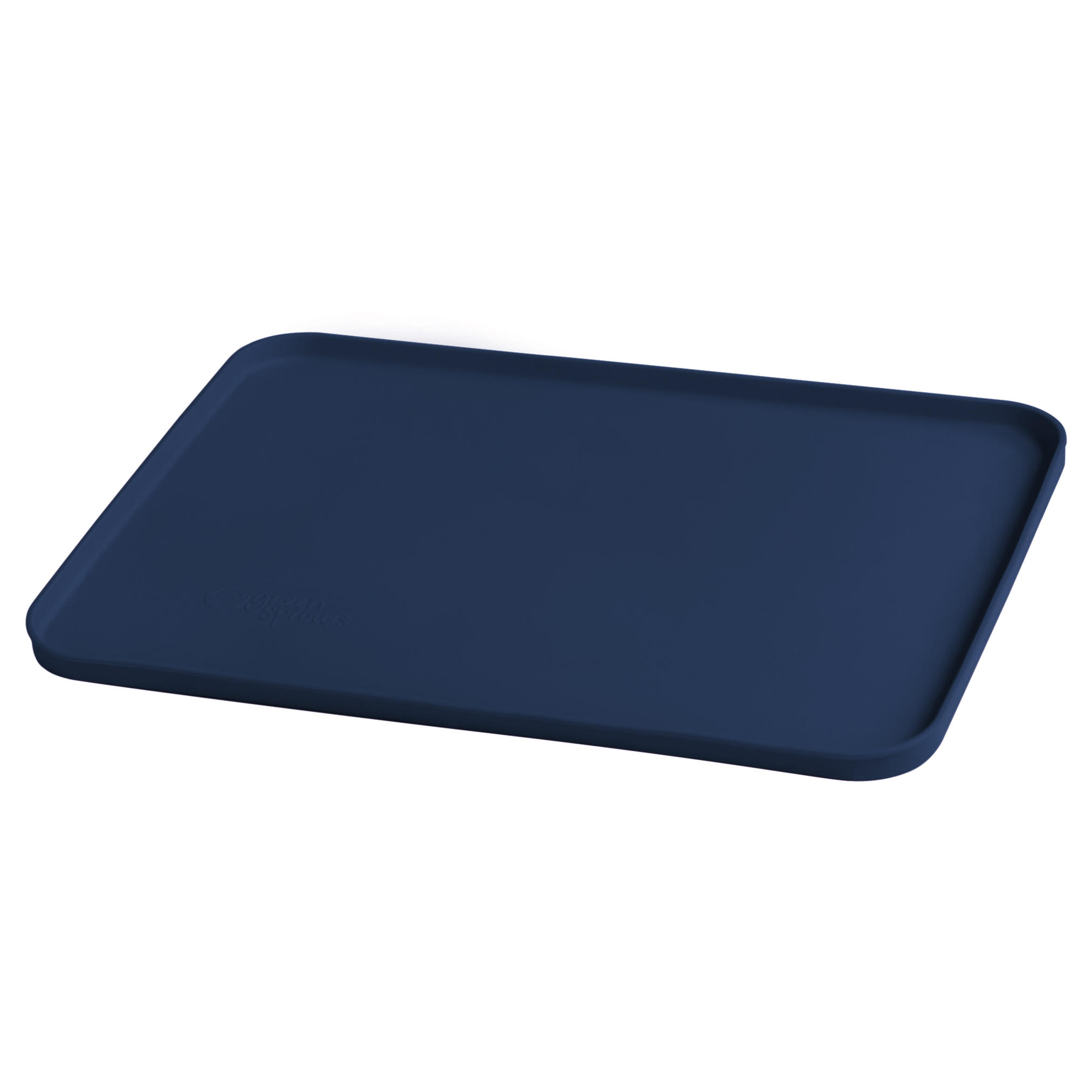 Mat Individual De Silicona Azul Oscuro Para Comer De Las Manos
