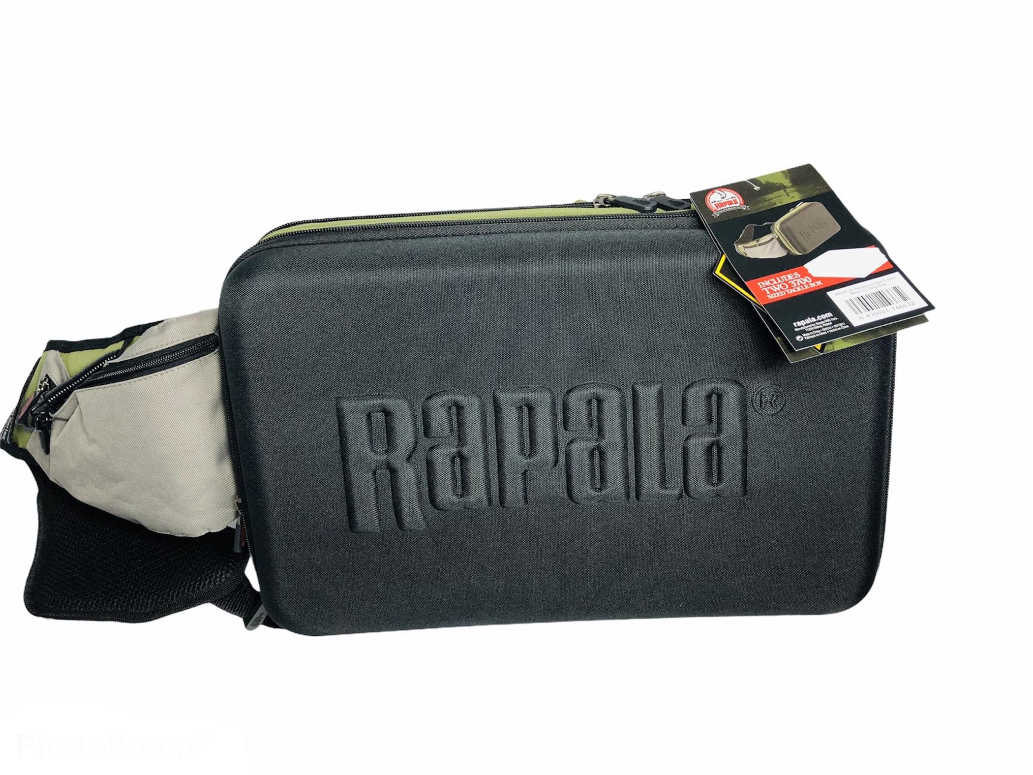 Rapala sling bag + 2 cajas 3600