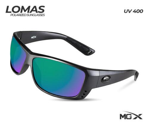 MGX lentes lomas #003 (marco negro/cristal azul verdoso)