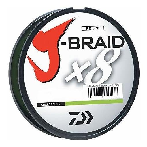Daiwa J-Braid 0.28mm verde fluor 300 mts (30Lb)