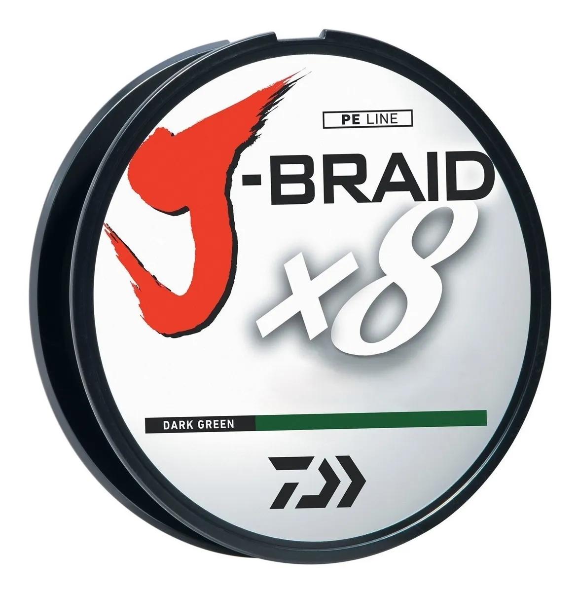 Daiwa J-Braid 0.15 verde oscuro 300 mts (10lb)