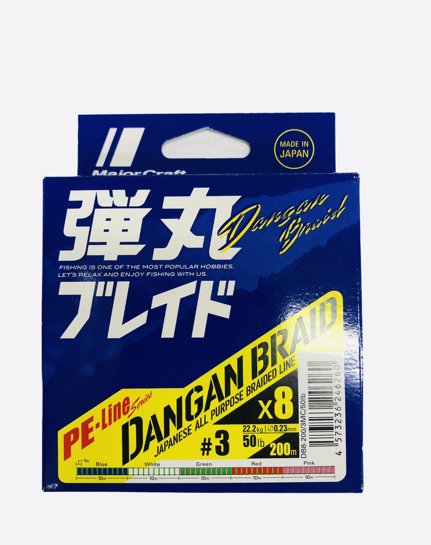 Major craft Dangan Braid 8X 0.23mm 200mts 22kg (multicolor)
