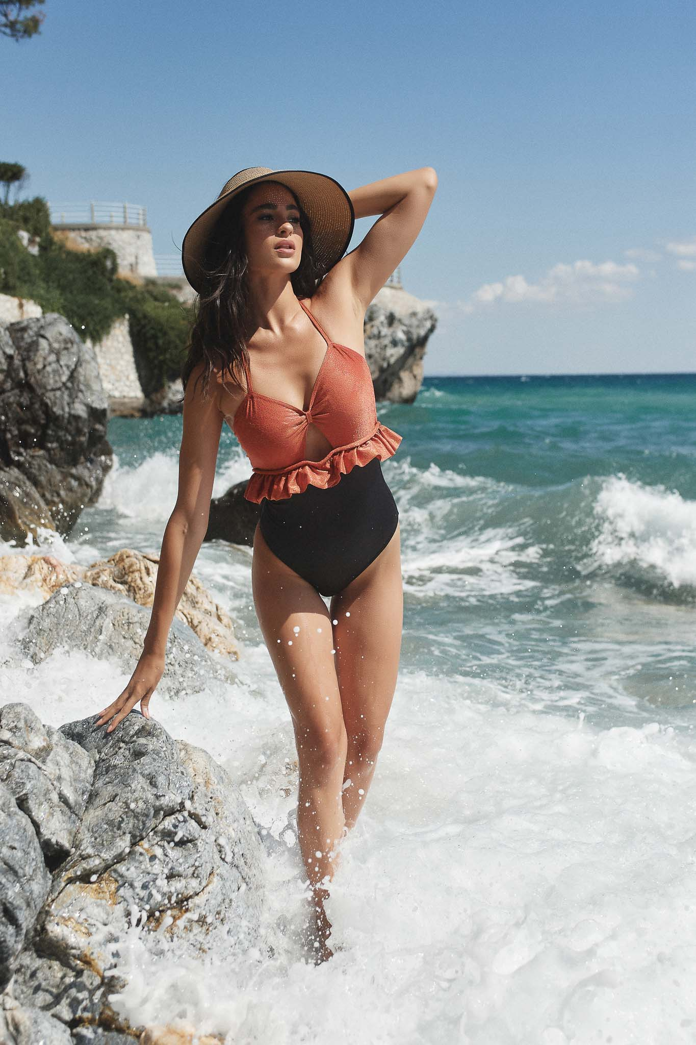Seychelles Coral One Piece